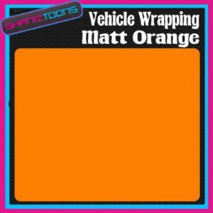 2M X 1520mm CAR INTERIOR EXTERIOR DASHBOARD BODYWORK  WRAP MATT ORANGE